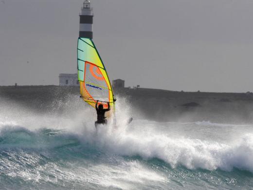 (Galería de fotos) Así es el temporal en Es Grau y Punta Prima