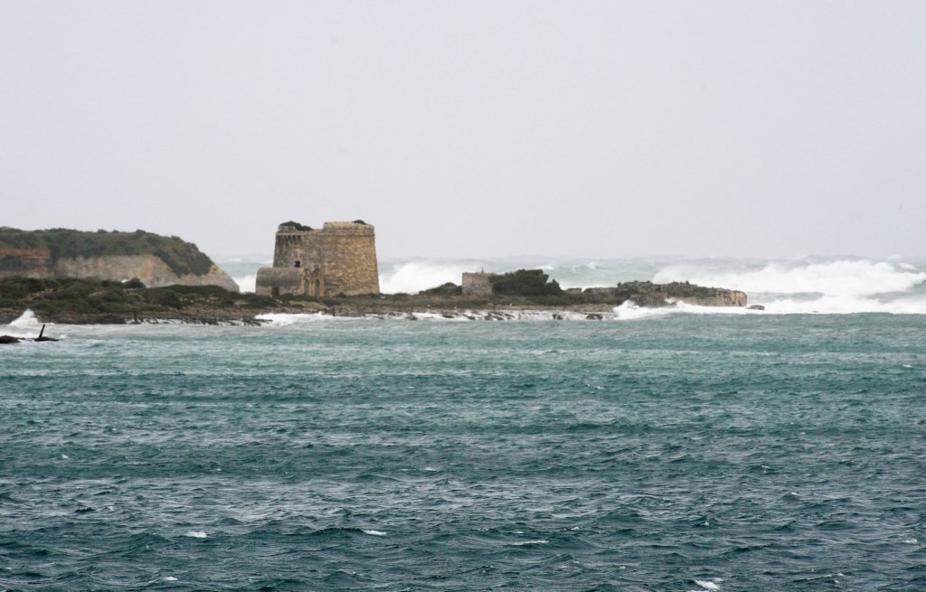 El viento levantará olas de hasta 2 metros de altura