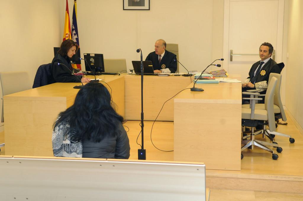 Imagen del juicio celebrado esta mañana en Maó (Foto: Tolo Mercadal)