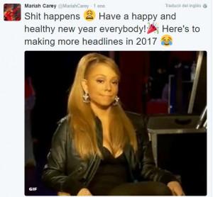 Captura del mensaje publicado por la cantante.