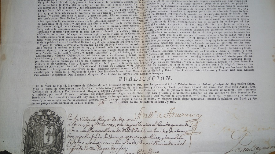 Data del siglo XVIII.