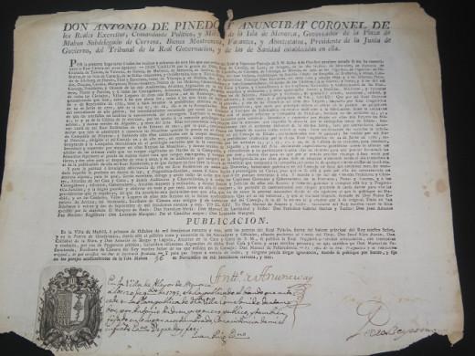 (Fotos) Un documento histórico de 1793 para el archivo de Alaior