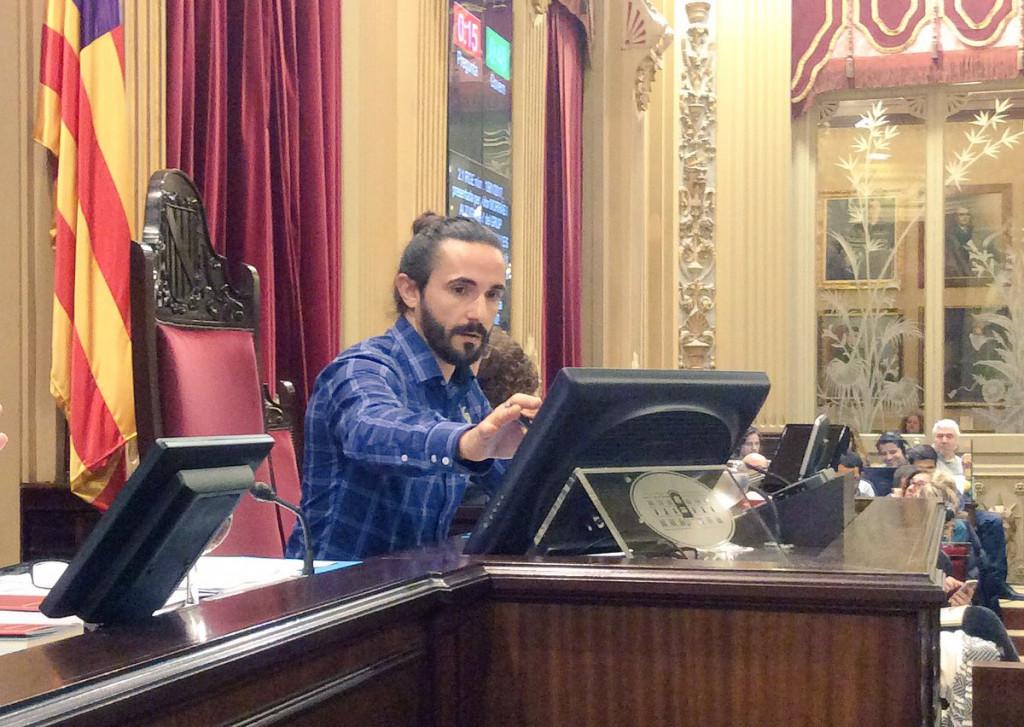 Baltasar Picornell, tras ser elegido presidente del Parlament.