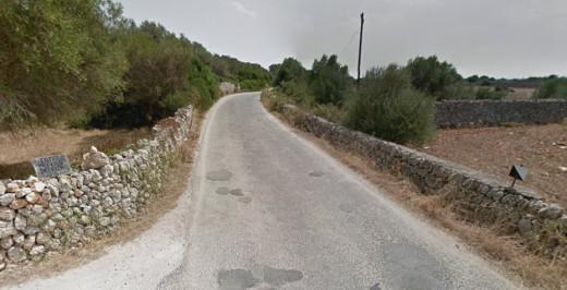 Imagen del Camí de Son Saura en Google Maps.