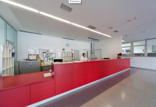 Interior del hospital Mateu Orfila.