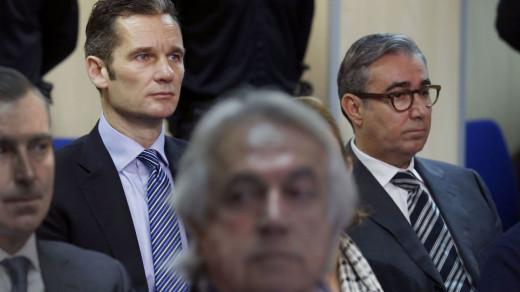 Urdangarín y Torres, durante el juicio que se celebró el año pasado.