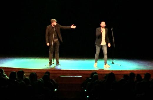 Raúl Cimas y Dani Mateo, durante la función en el Principal.