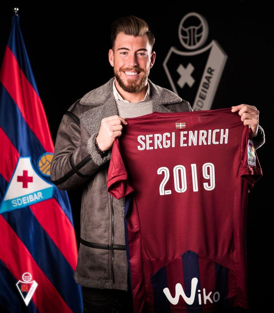 Sergi Enrich, con la camiseta del Eibar (Foto: SD Eibar)