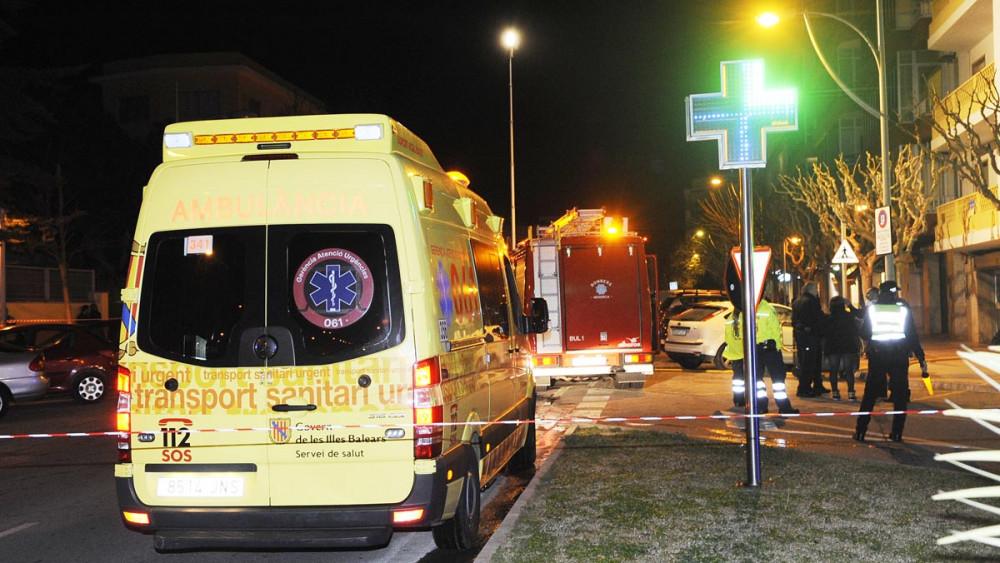 Ambulancia del 061, pese a que no ha habido heridos.