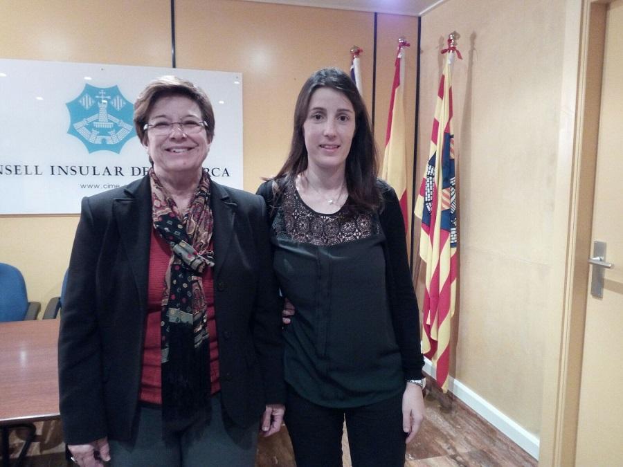 María Cabrisas, antes de la presentación.