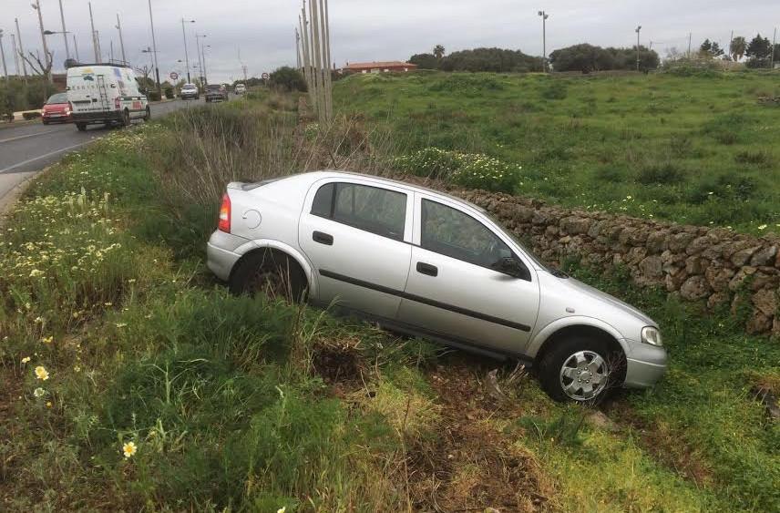 Así ha quedado el coche tras el accidente.