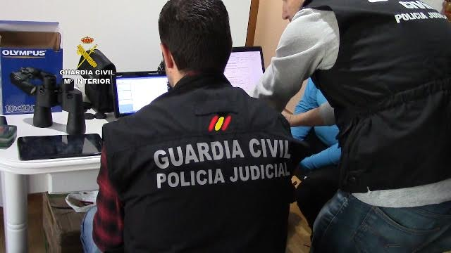 La Guardia Civil ha procedido a múltiples detenciones en toda España, dos de ellas en Balears.