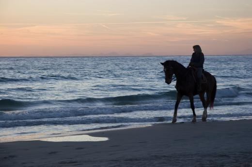 Las excursiones a caballo forman parte de esta oferta turística