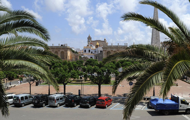 Plaça des Born de Ciutadella.