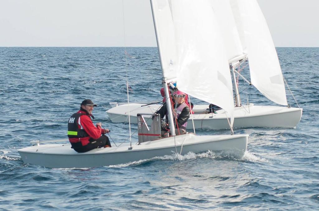 Fernando Rita y su hija Julia, en una regata.