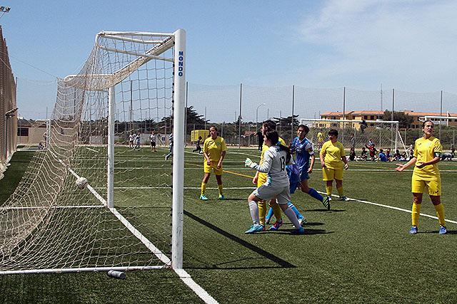 Imagen del gol de Clara Villanueva.