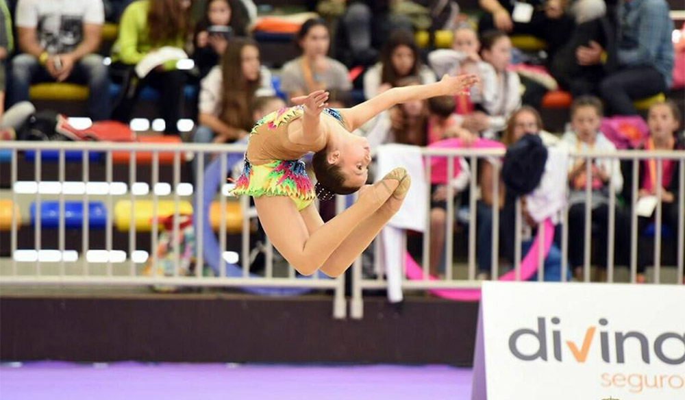 Sandra González, ejecutando un ejercicio (Foto Sport Eventos)