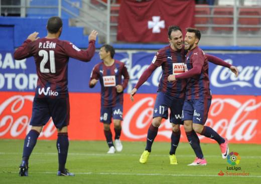 Sergi Enrich, feliz tras marcar el gol (Foto: laliga.es)