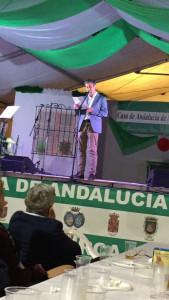 Fernando Alcaide en su parlamento.