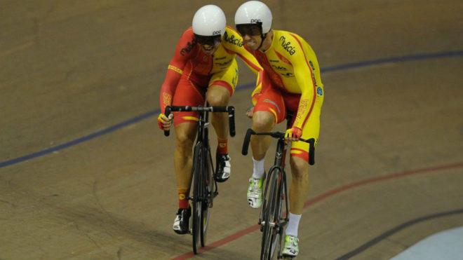 Torres y Mora, en pleno esfuerzo (Foto: RFEC)