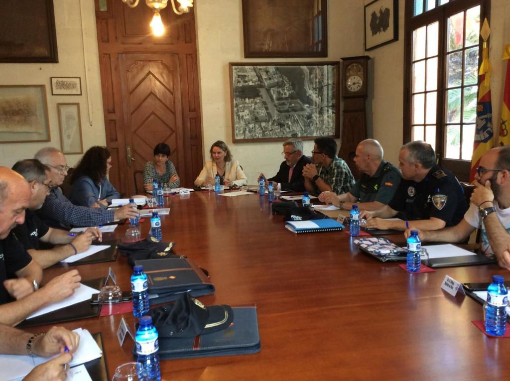 Imagen de la reunión de la junta de seguridad.