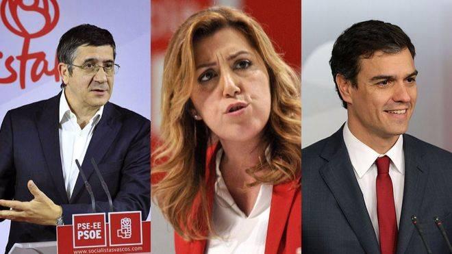 Imagen de los tres candidatos.