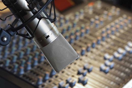 Micrófono de radio.