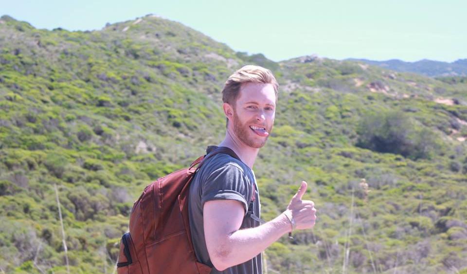 Otra imagen del actor en la Isla.