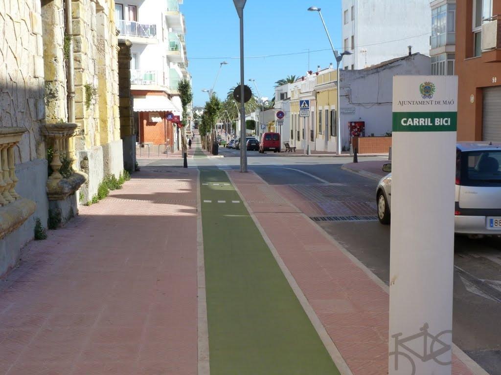 Carril bici en Maó