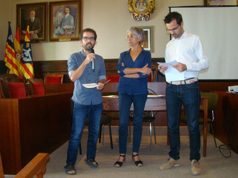 Responsables municipales del ayuntamiento de Mahón.