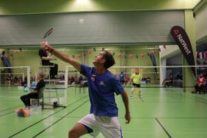 Acción del badminton.