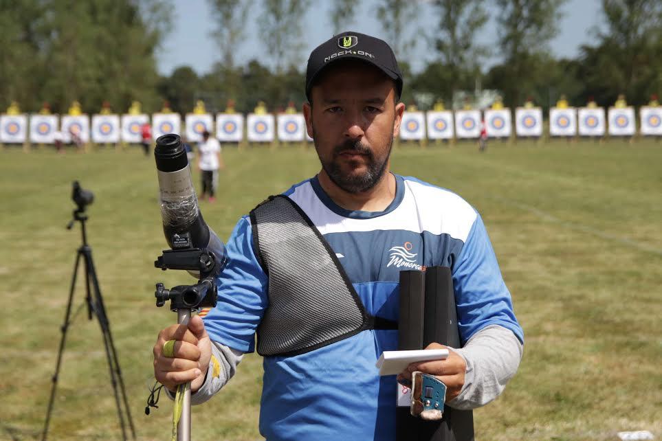 Borja Gonyalons, tras lograr la medalla.
