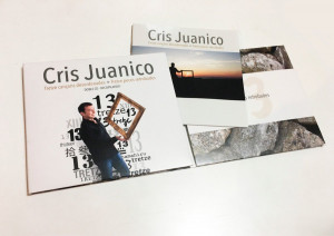 Diseño de la portada e interior del disco de Cris Juanico.