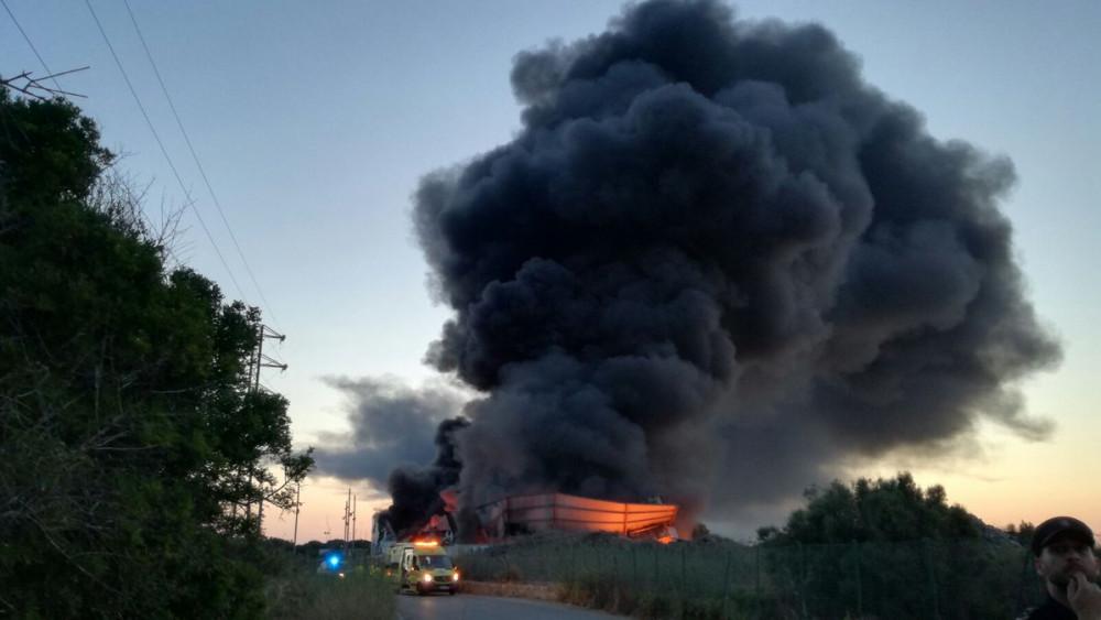 El fuego ha destrozado la planta.