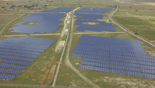 El parque fotovoltaico de Son Salomó. Foto: Dronesky