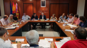 Imagen de la reunión de la Mesa.