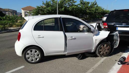 Imagen del coche accidentado.