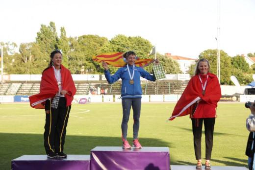 La atleta de Ferreries, en el podio.