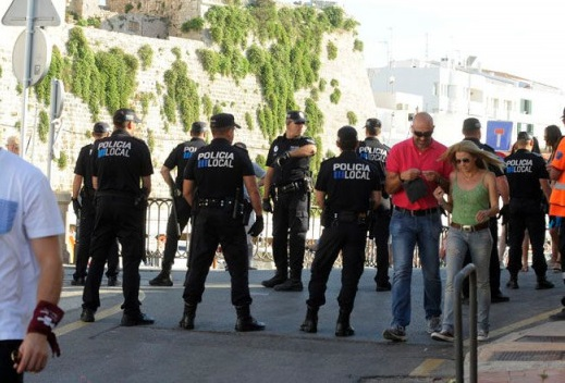 Agentes de la Policía Local de Ciutadella