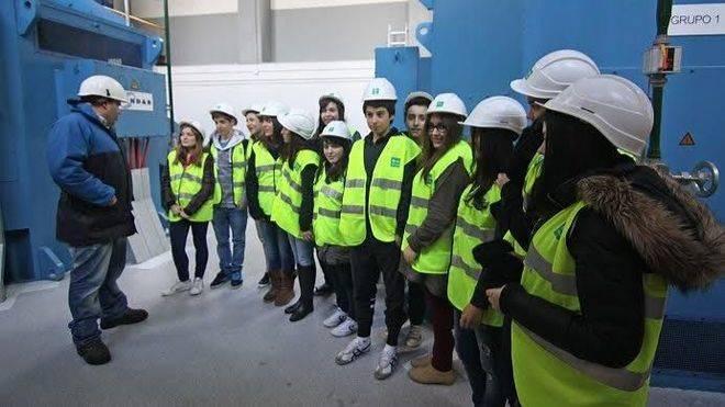 Alumnos en una de las visitas.