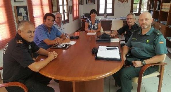 Imagen de la reunión en el Ayuntamiento de Ciutadella