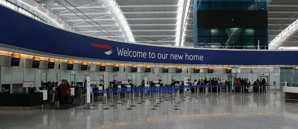 Aeropuerto de Heatrow en Londres.