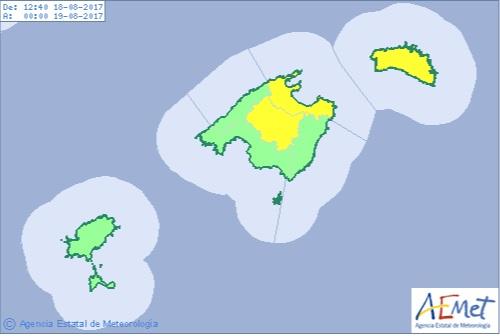 Alerta amarilla por altas temperaturas en Menorca