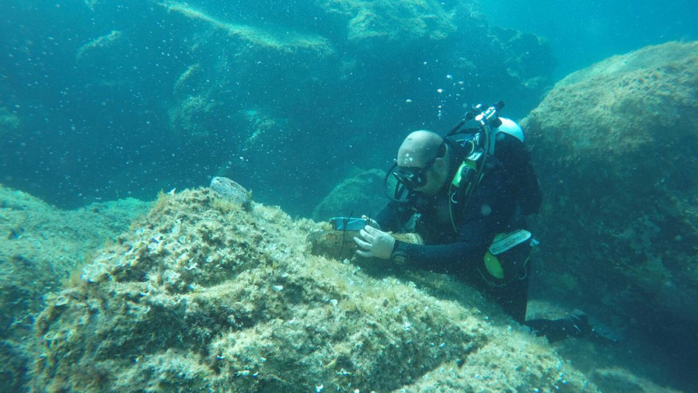 Imagen de uno de los buceadores (Foto: Armada Española)