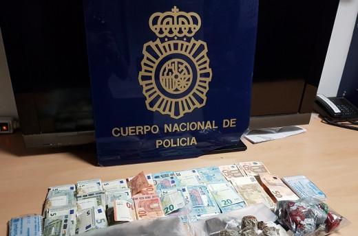 Droga y dinero intervenido