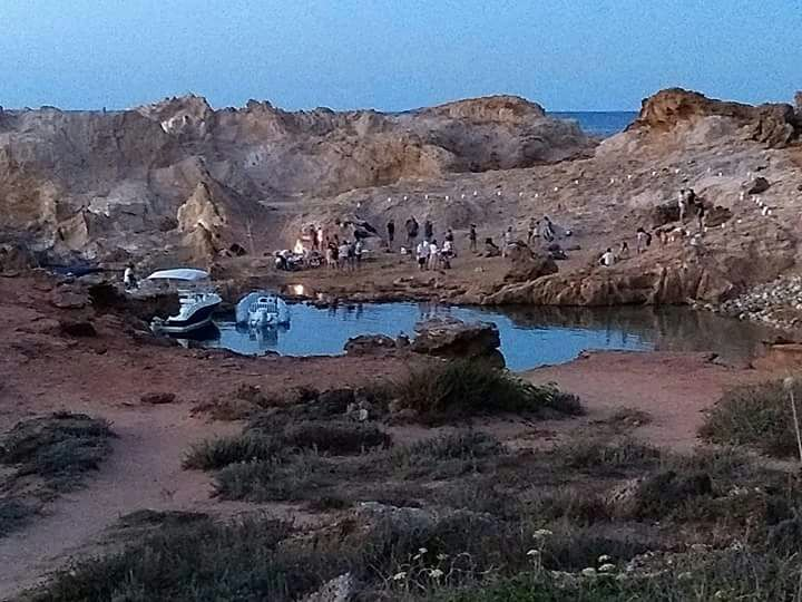 Imagen captada en uno de los islotes el jueves a las 21.00 horas.