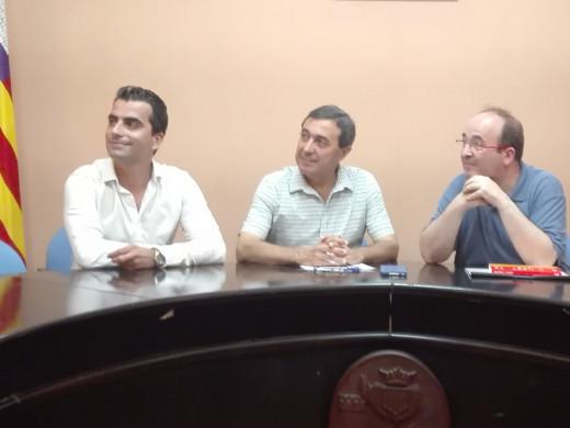 "Miquel Iceta: ""Ni el proceso independentista ha impedido que venga a Menorca"""