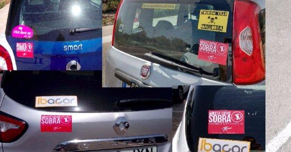 Imagen de los coches afectados.