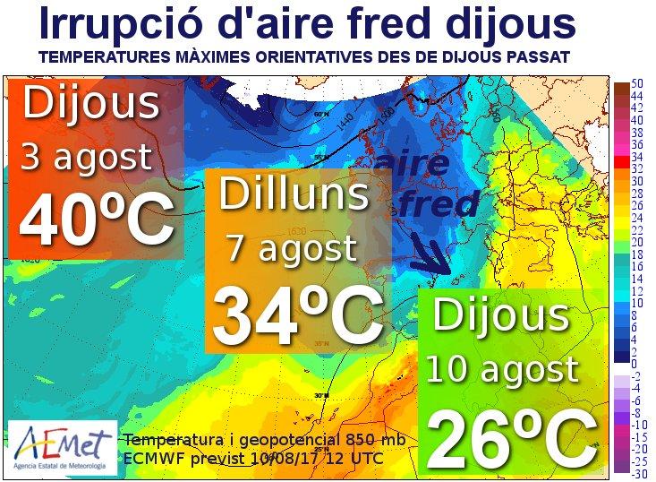 Mapa de temperaturas de Aemet.