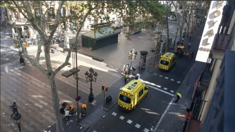 Incidente en Barcelona.